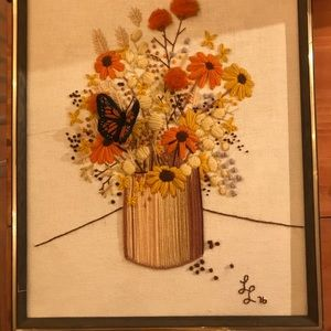 Rad vintage floral cross stitch